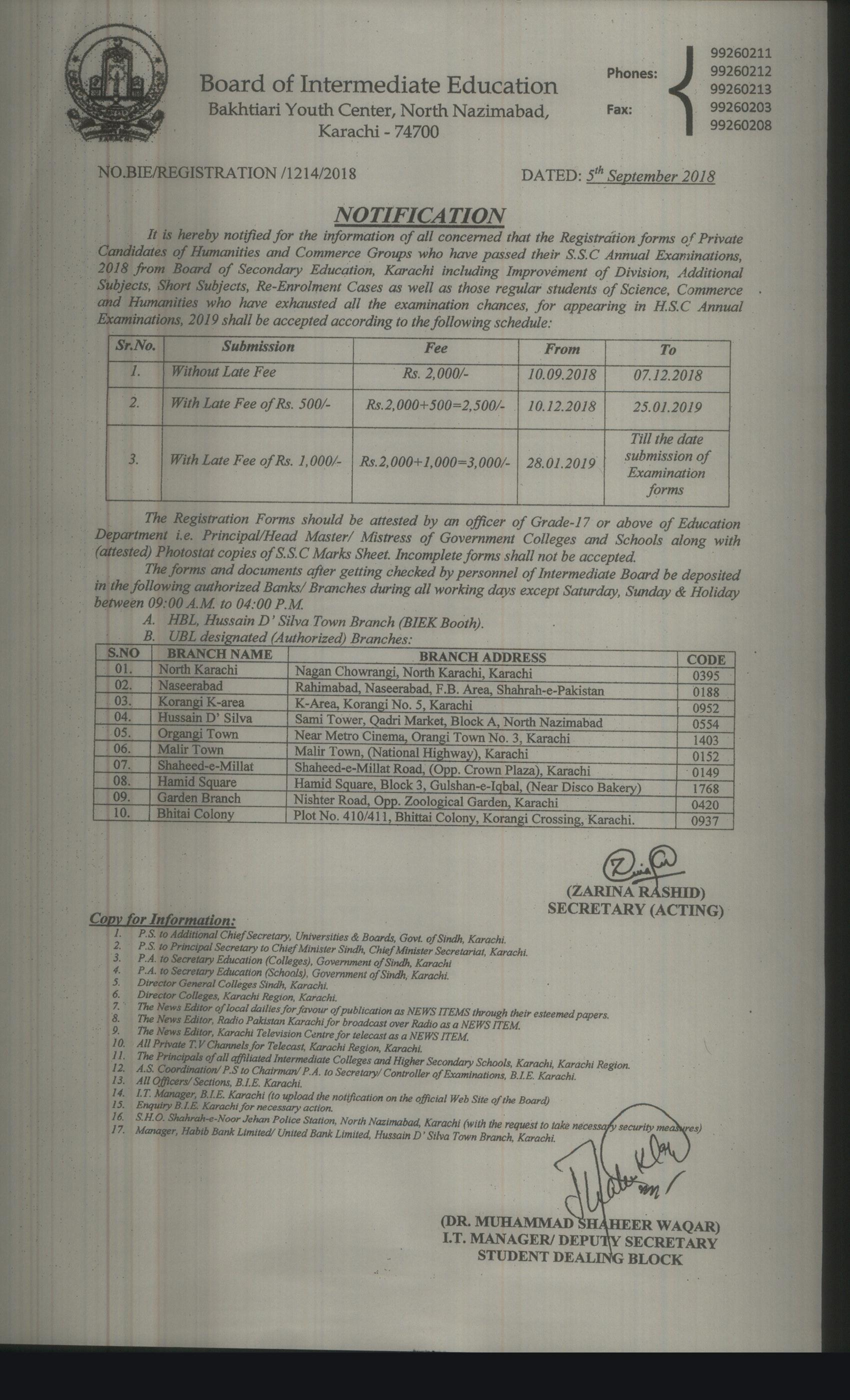 df0b6204083 Notification regarding Submission of Registration forms of commerce    Humanities group